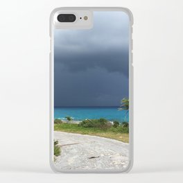 Squall off Long Island Bahamas Clear iPhone Case