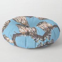 Mrs Ruru, New Zealand Morepork Owl Floor Pillow