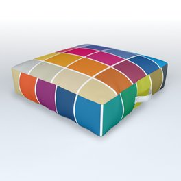 Colorful Soul - All colors together Outdoor Floor Cushion