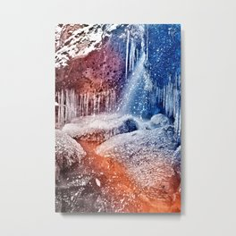 Acrylic Winter Stream Metal Print