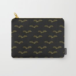 Victorian Bat Pattern (black) Carry-All Pouch