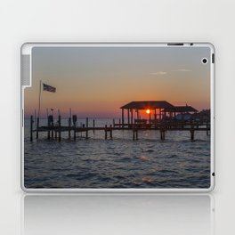 Sunset on the James River Laptop & iPad Skin