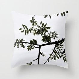 Rowan branch against the sky Throw Pillow