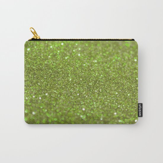 Bright Lime Glitter Carry-All Pouch