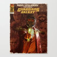 guardians of the galaxy Canvas Prints featuring Guardians of The Galaxy  by Juan Hugo Martinez Illustrations