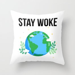 Happy Flat Earth Day Funny Design Throw Pillow