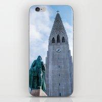 iron giant iPhone & iPod Skins featuring Járn Risastór (Iron Giant) by Alex Tonetti Photography