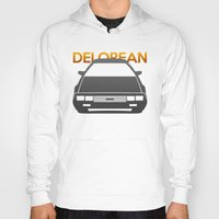 delorean Hoodies featuring DeLorean DMC–12 by Vehicle
