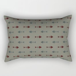 Fish bone pattern Rectangular Pillow