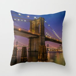 Brooklyn Nights Throw Pillow