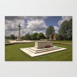 Hooge Cemetery  Canvas Print