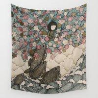 predator Wall Tapestries featuring predator/prey by Love on a Bike