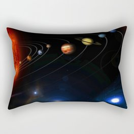 This image is an unannotated version of NASAs Photojournal Home Page graphic released in October 200 Rectangular Pillow