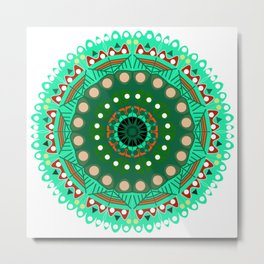 the blossoming of a forest mandala Metal Print