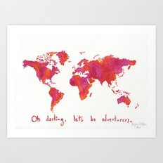 Oh, Darling Art Print