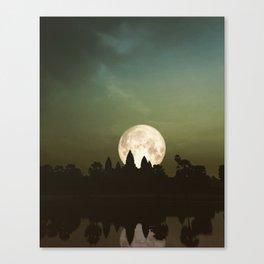 Angkor Wat Super Moon Canvas Print