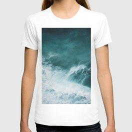 Teal Sea Waves T-shirt