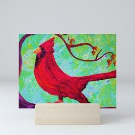 Festive Cardinal Mini Art Print