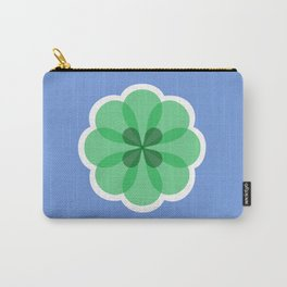 Purple and green geometric flower Carry-All Pouch
