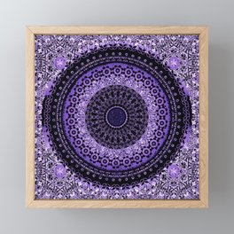 Purple Tapestry Mandala Framed Mini Art Print