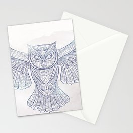 Ethnic Owl Stationery Cards