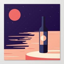 Moonlight + Wine Canvas Print