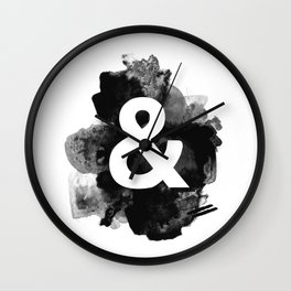 Ampersand Paint Wall Clock