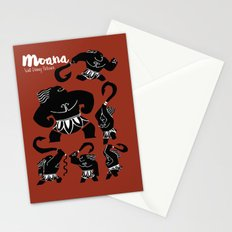Moana, Animated Movie Poster, Oceania, Vaiana, minimal, alternative, film, playbill, 3D cartoon Stationery Cards