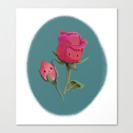 Cutie Rose and Bud Canvas Print