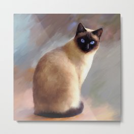 Cat 613 siamese Metal Print
