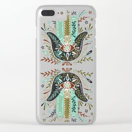 Hamsa Hand – Earth Palette Clear iPhone Case