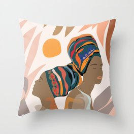 Women with the Turbans Throw Pillow