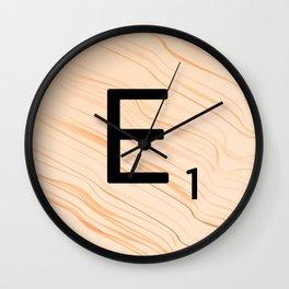Scrabble E - Large Scrabble Tiles Wall Clock