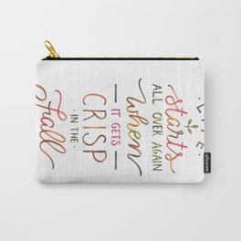 Crisp in the Fall - The Great Gatsby quote Carry-All Pouch