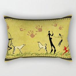 Cavemen yellow Rectangular Pillow