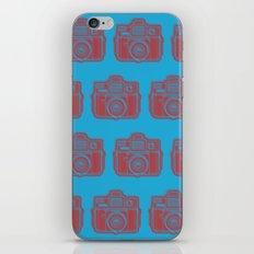 I Still Shoot Film Holga Logo - Blue & Red iPhone Skin