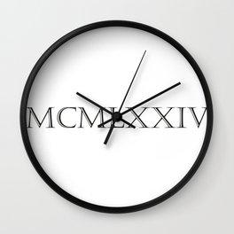 Roman Numerals - 1974 Wall Clock