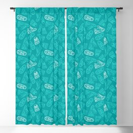 Sneakers // Turquoise Blackout Curtain