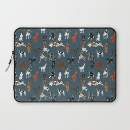 Coonhounds on Dark Teal Laptop Sleeve