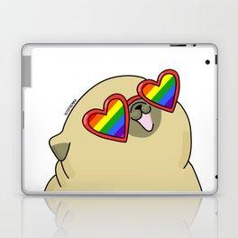 Pug love lgtb pride Laptop & iPad Skin