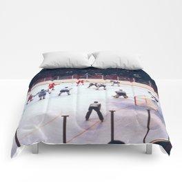 Vintage Ice Hockey Match Comforters