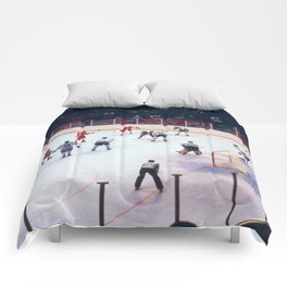 Vintage Ice Hockey Match Comforters