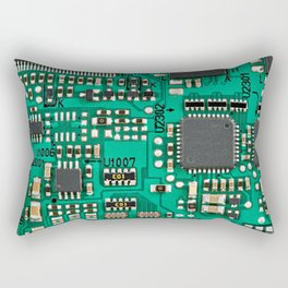 Electronic circuit board with processor Rectangular Pillow