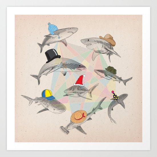 Hats On Art Print