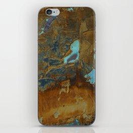 Blue Lagoons in Rusty World iPhone Skin