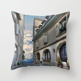 Far Beyond The Street Throw Pillow