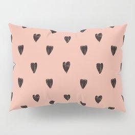 Black hearts Pillow Sham