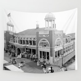 The Steel Pier at Atlantic City 1915 Wall Tapestry
