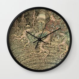 The Step Well Wall Clock