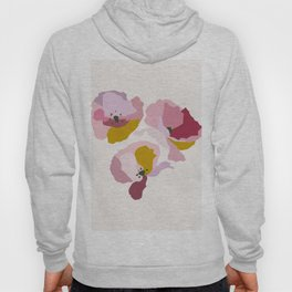 Pink Abstract Poppies by The Botanical Study Hoody